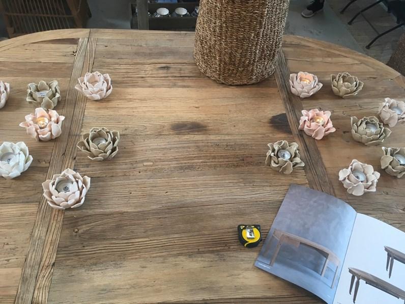 Tavoli In Legno Olmo.Tavolo Olmo Artigianale In Legno Fisso