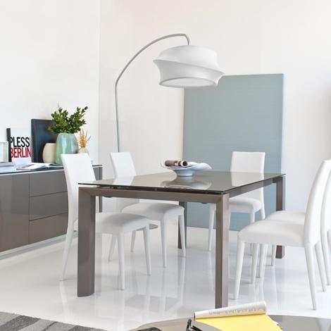 Tavolo omnia glass calligaris offerta tavoli a prezzi for Tavolo riflessi living prezzo