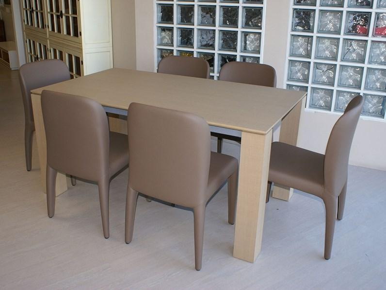 Tavolo only legno tranch rovere naturale santarossa a for Sedie design legno naturale