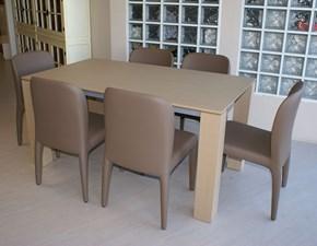 Tavolo ONLY legno tranchè rovere naturale Santarossa a prezzo scontato 50%