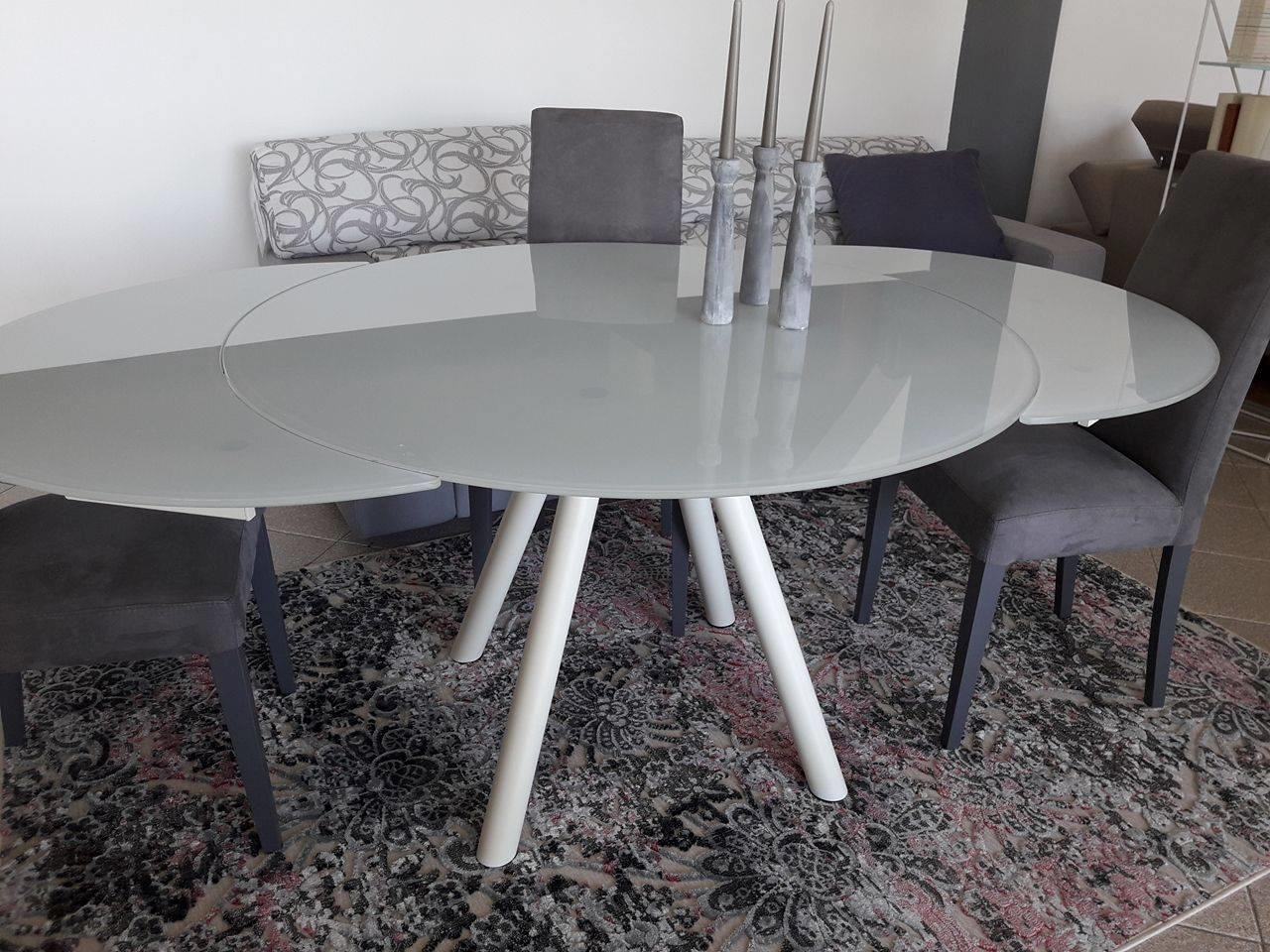 Tavolo orbit rotondo allungabile tavoli a prezzi scontati - Tavolo rotondo vetro allungabile ...