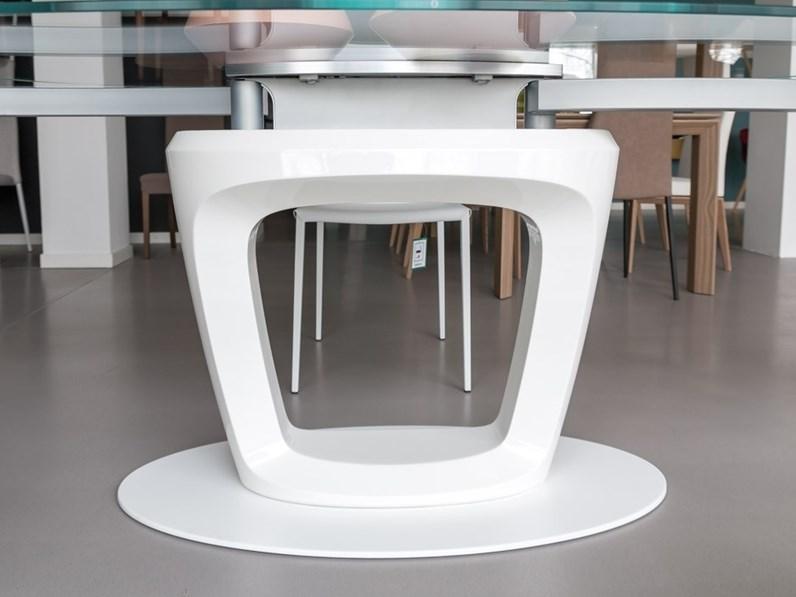 Tavolo orbital calligaris in vetro allungabile for Tavolo vetro allungabile calligaris