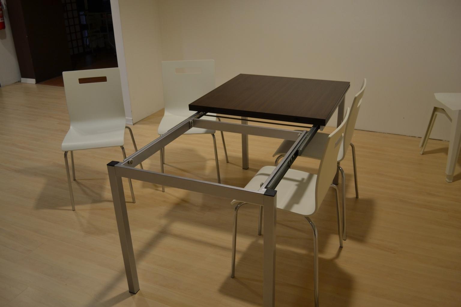 Tavolo Orlec quadrato 80x80 allungabile con apertura telescopica a 160 ...
