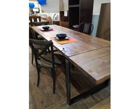 Tavolo Outlet etnico  legno massello radice di suar industrial  PREZZI OUTLET