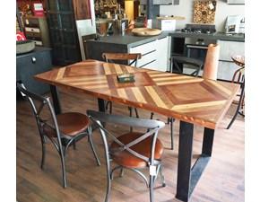 Tavolo Outlet etnico Tavolo legno metallo design in offerta   PREZZI OUTLET