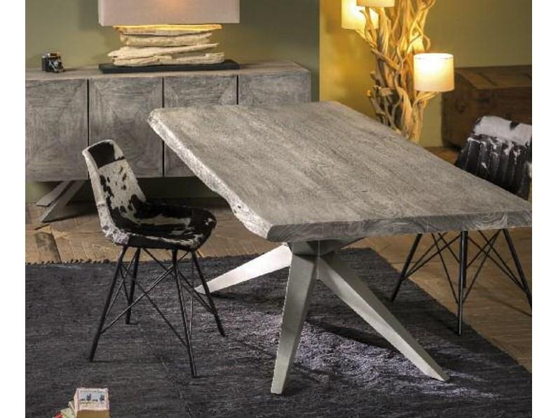 Tavolo outlet etnico tavolo minimal design grey il legno e for Tavolo design outlet