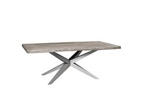 TAVOLO Outlet etnicoTavolo minimal  design grey il legno e metallo in offerta  SCONTATO 48%
