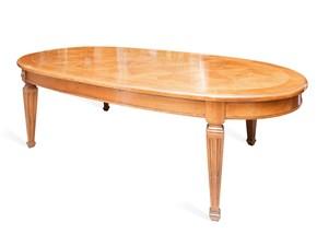 Tavolo ovale a quattro gambe Tavolo ovale Artigianale scontato