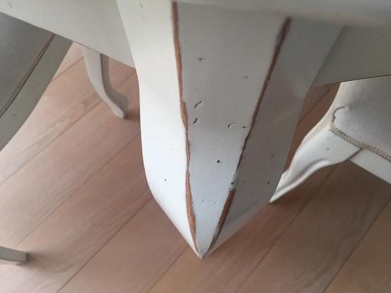 Tavolo In Legno Allungabile Con 4 Sedie.Tavolo Ovale Allungabile Essenza In Legno Massello Laccato Bianco