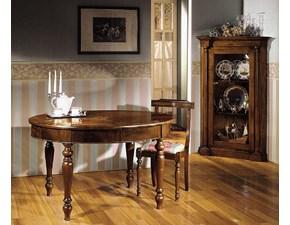 Tavolo ovale allungabile finitura noce con lucidatura gommalacca