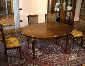 Tavolo ovale allungabile Ovale art.14 Artigiani veneti a prezzo scontato