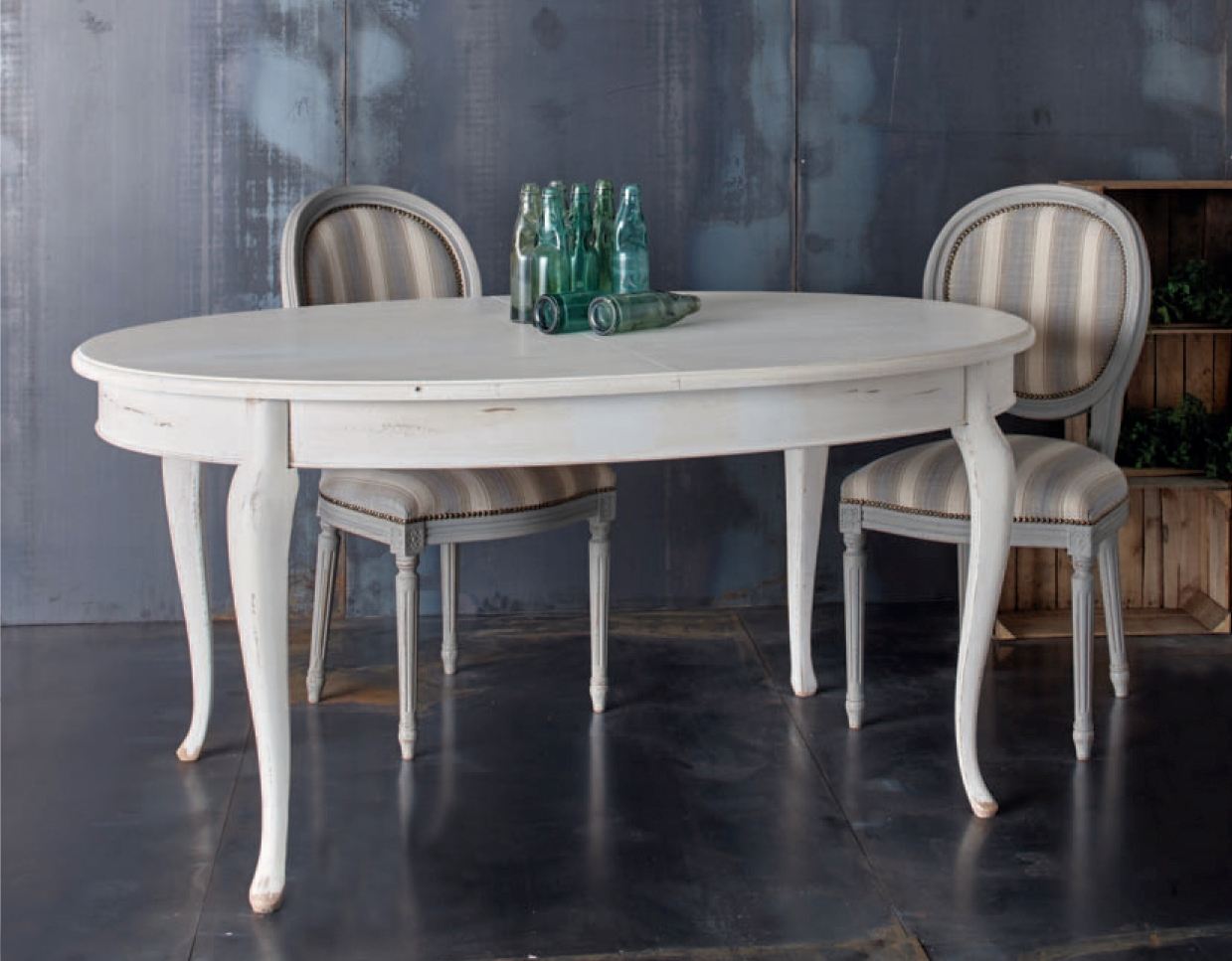 Tavolo ovale allungabile shabby chic nuovo a prezzo - Tavolo shabby ...