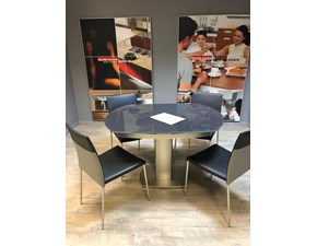 Tavoli Di Vetro Ovali : Tavolo odyssey calligaris in vetro ovale allungabile