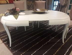Tavolo ovale con basamento a quattro gambe Mm 606 di Marchetti