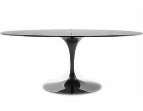 Tavolo ovale con basamento centrale Saarinen made in italy allungabile 169/223x111 Sigerico scontato