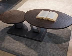 Tavolo ovale con basamento centrale Twist tronco  Ozzio scontato