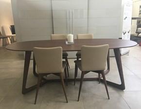 Tavolo ovale con basamento con basamento centrale Cover Pacini e cappellini