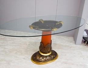 Tavolo ovale con basamento con basamento centrale Tc6938 Tonin casa