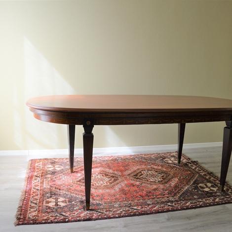Tavolo ovale con struttura e piano d 39 appoggio in legno for Tavolo d appoggio