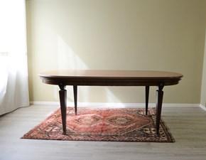 Tavolo ovale con struttura e piano d'appoggio in legno massello di Produzione Artigianale.  Scontato del -63%. Offerta Outlet Mobilgross