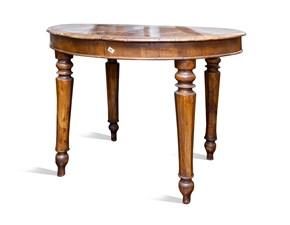 Tavolo ovale in legno Ovale Artigianale in Offerta Outlet