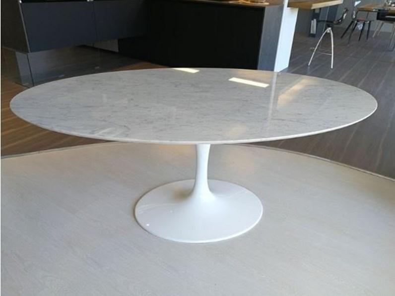 Tavolo Ovale In Pietra Saarinen Made In Italy 160x110 Artigianale In Offerta Outlet