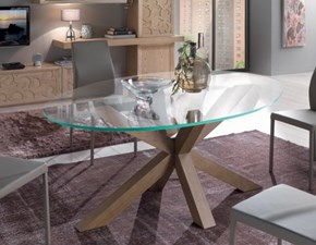 Tavolo ovale in vetro Cristallo ovale Collezione esclusiva in Offerta Outlet