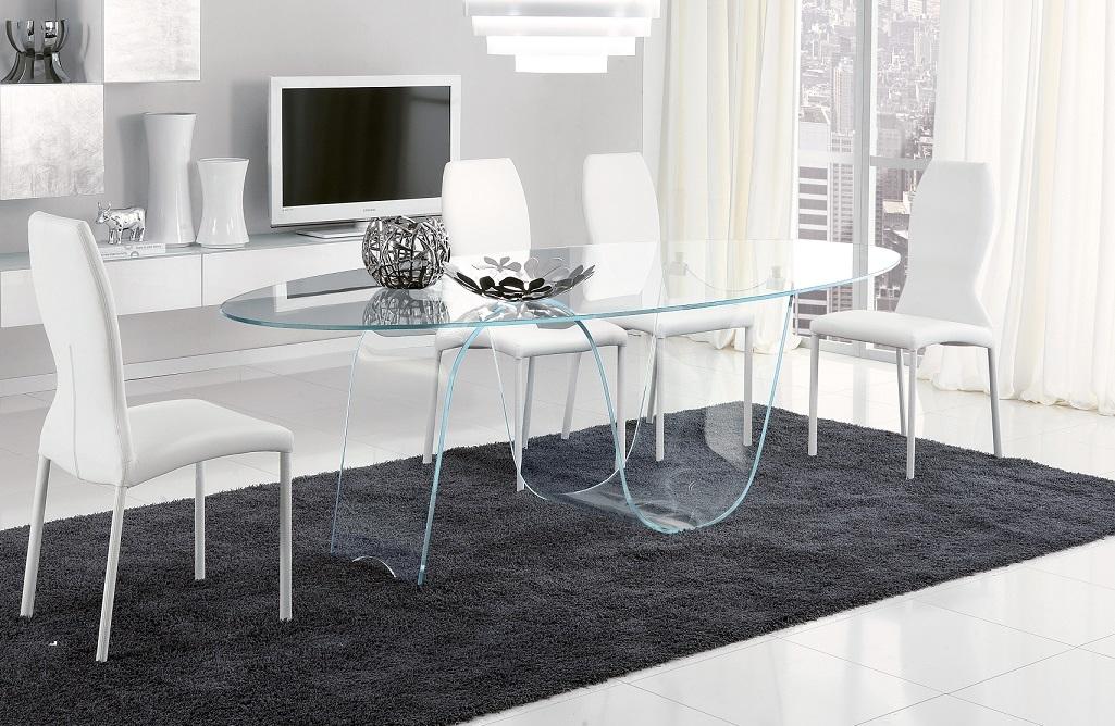 Tavolo ovale in vetro Infinity di Unico Italia a prezzo scontato ...