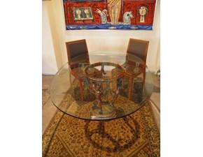 Tavolo ovale in vetro Liberty Artigianale in Offerta Outlet
