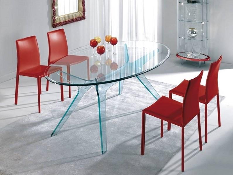Tavolo Ovale In Vetro Tavolo Ovale Mod Kent In Cristallo Scontato Del 30 Artigianale In