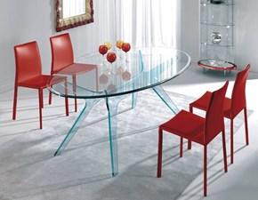 Tavolo ovale in vetro Tavolo ovale mod.kent in cristallo scontato del 35% Artigianale in Offerta Outlet