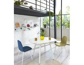 Tavolo Ovale plus Artigianale in vetro Ovale allungabile