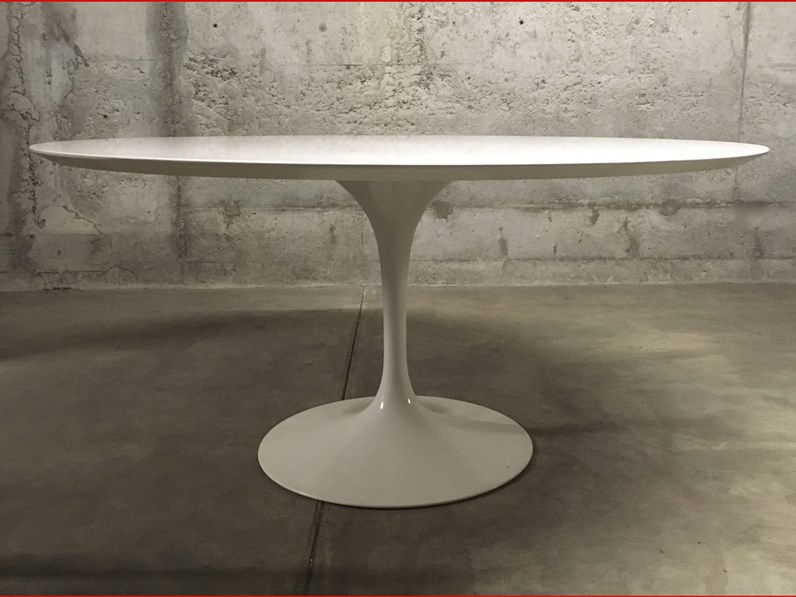 Tavolo Ovale saarinen Archilab design in laminato Fisso