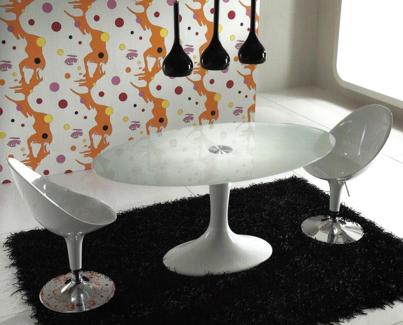 Tavolo ovale seventy glass tavoli a prezzi scontati for Tavolo ovale bianco design