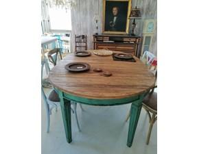 Tavolo Ovale  shabby  Artigianale in legno Allungabile