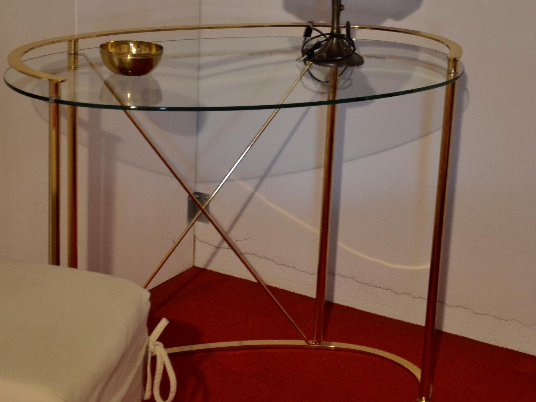 Tavolo ovale vetro e ottone tavoli a prezzi scontati - Tavolini vetro e ottone ...
