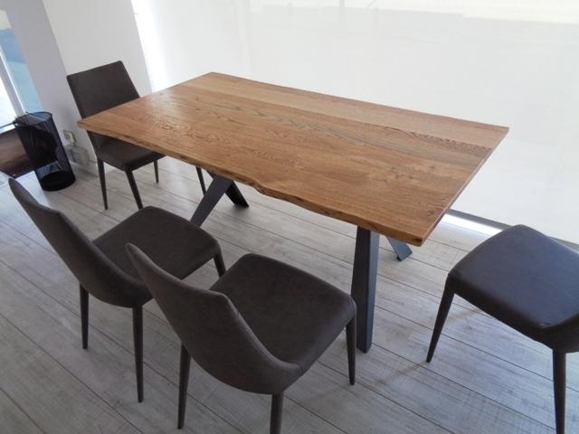 Tavolo ozzio tavolo legno massello scortecciato variant scontato del 42 tavoli a prezzi - Tavolo legno massello ...