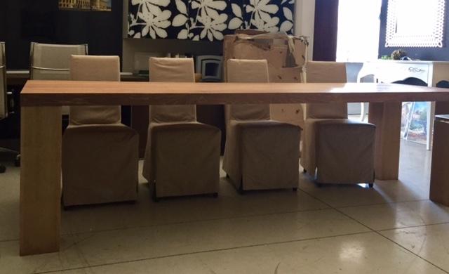 Tavolo parquet di rovere spazzolato fisso dimensioni - Dimensioni tavolo ...