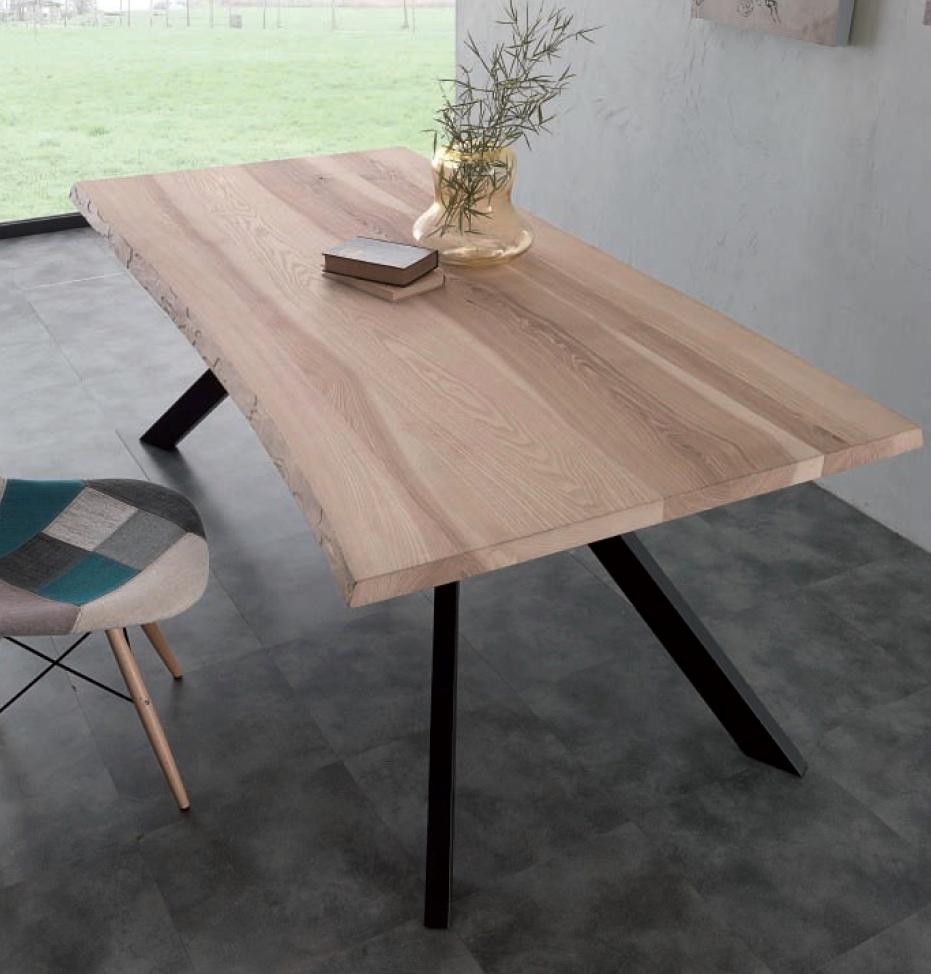 Tavolo natural glass rettangolari fissi legno tavoli a for Tavolo legno frassino