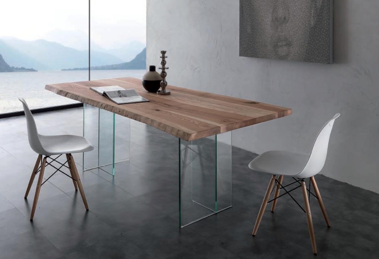 Tavolo naturalglass rettangolari fissi vetro tavoli a - Tavoli in cristallo prezzi ...