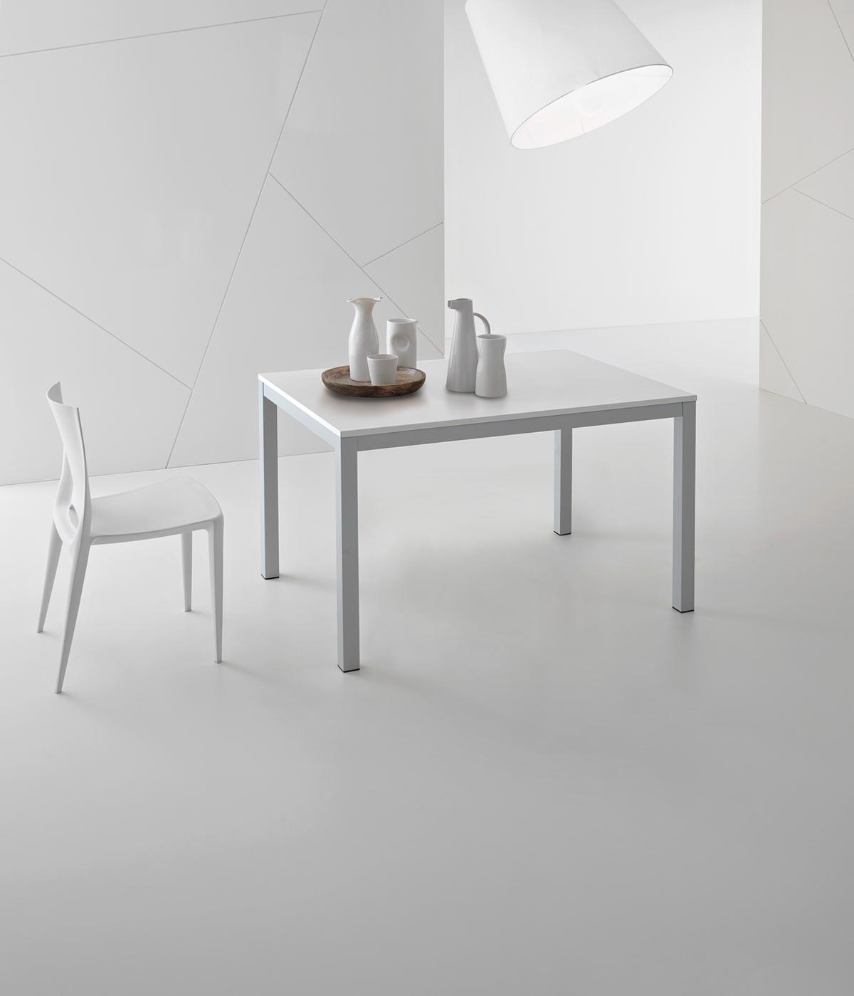 Tavolo point house modello plutone di colore grigio e for Tavolo rovere bianco