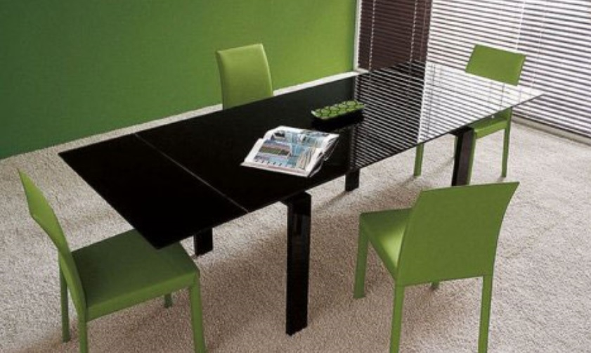 Tavolo pronta consegna nero allungabile tavoli a prezzi for Tavolo nero allungabile