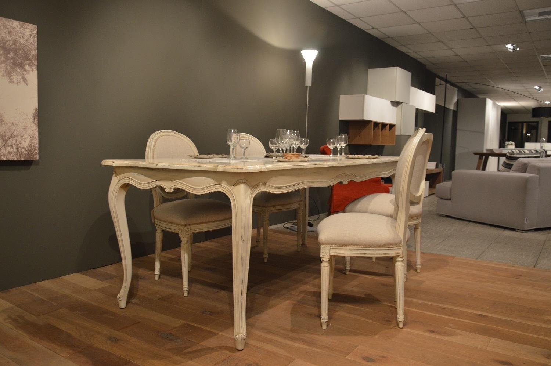 Tavolo provenza in legno massello scontato del 40 - Tavolo bianco shabby chic ...