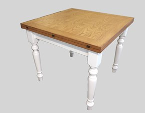 Tavolo quadrato a quattro gambe A libro art.9 Artigiani veneti scontato