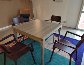 Tavolo quadrato a quattro gambe Art. 664 Artigianale scontato