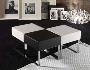 Tavolo quadrato a quattro gambe Kubetto - art. 840/7 La seggiola scontato