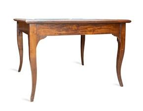 Tavolo quadrato a quattro gambe Legno pelle Artigianale scontato