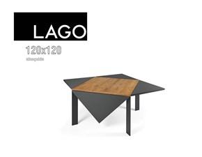 Tavolo quadrato a quattro gambe Loto allungabile 120x120 Lago scontato