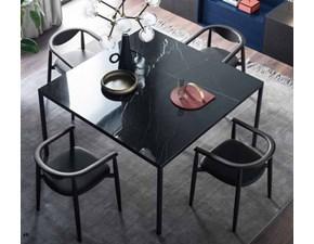 Tavolo quadrato a quattro gambe Minimal Artigianale scontato