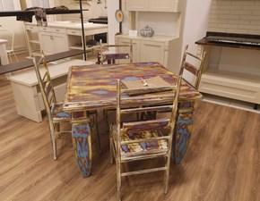 Tavolo quadrato a quattro gambe Moulin rouge Artigianale scontato